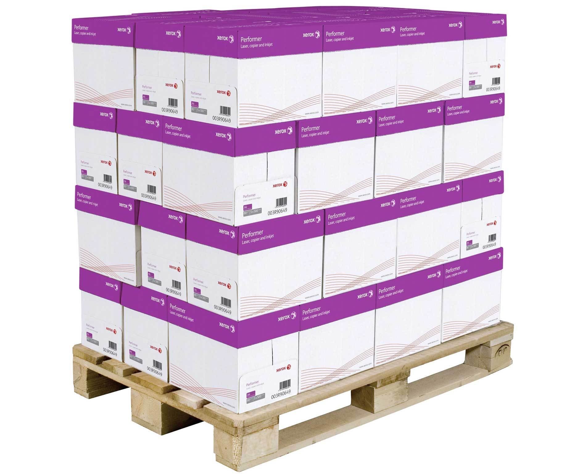 Image of reams of paper on a pallet