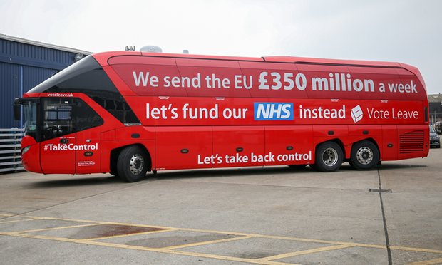 The lying anti-EU bus promoting money for the NHS when all the anti-EU shites are anti-NHS Neo-Liberal shites.