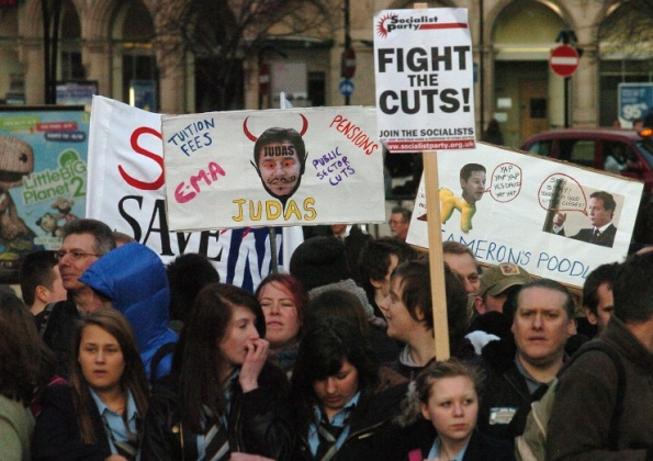 Protest at Sheffield Lib-Dem Spring Conference 2011
