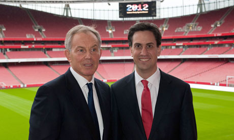Image of Tony Blair and Ed Miliband