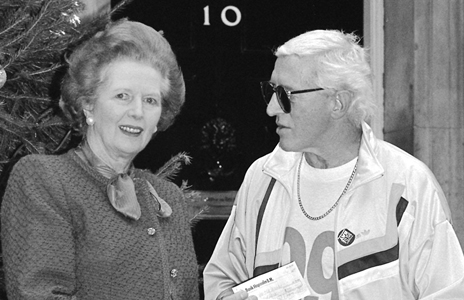 Image of Jimmy Savile and Margaret Thatcher