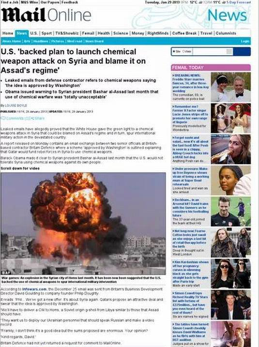 US Backed Plan to Launch Chemical Weapon Attack on Syria and Blame it on Assad Government