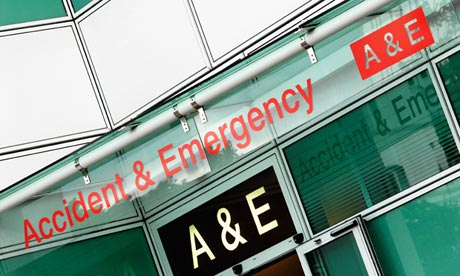 Image reads Accident & Emergency, A & E