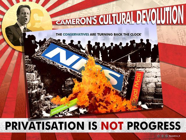 Image reads Cameron's Cultural Devolution