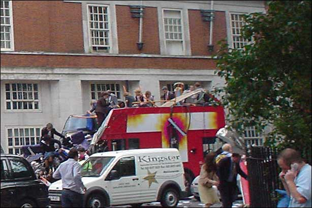 Image of Kingstar van at Tavistoc Sq 7 July 2005