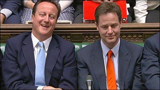 Image of Tories David Cameron and Nick Clegg