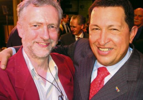 Image of Jeremy Corbyn and Hugo Chavez