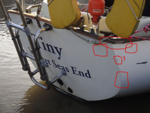 Image of damaged boat repeatedly sold on ebay UK
