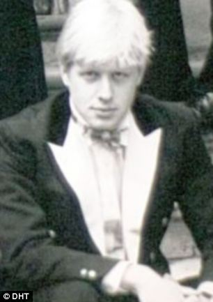 Image of Boris Johnson wearing Bullingdon Club uniform