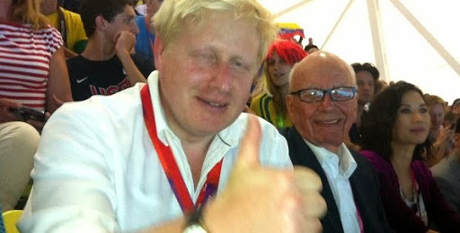 Boris Johnson's thumbs up from Rupert Murdoch